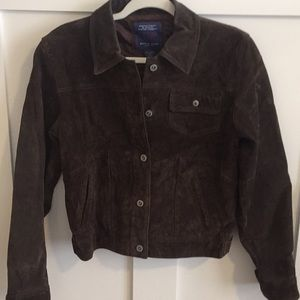 Brown suede jacket. Size medium.